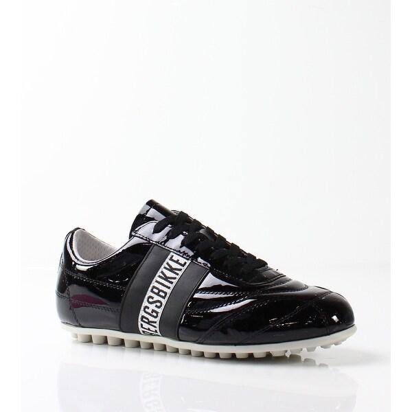 Bikkembergs NEW Black Women's Shoes Size 7M Soccer Patent Sneaker