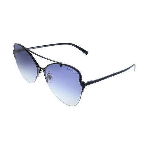Tiffany & Co. TF 3063 60074L 64mm Womens Black Frame Blue Gradient Lens Sunglasses