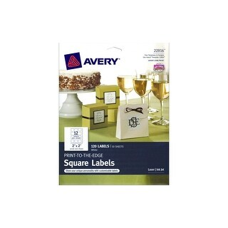 """Avery Label Print-To-The-Edge 2"""" Square 120pc"""