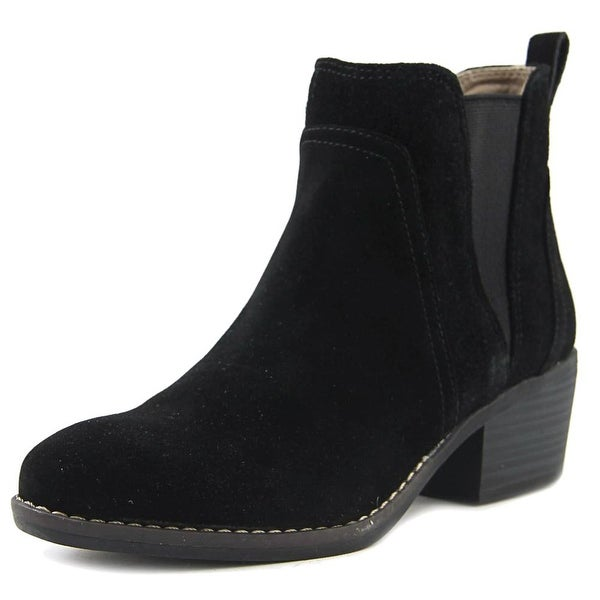White Mountain Hale Women Pointed Toe Suede Black Ankle Boot