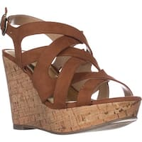 TS35 Maddor Casual Wedge Sandals, Cognac