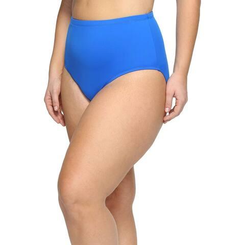 Ralph Lauren Women's Plus Size Beach Club Hipster Bikini Bottom, Blue (18W)