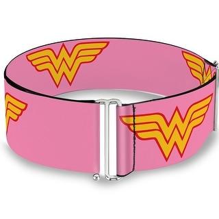 Wonder Woman Logo Pink Cinch Waist Belt   ONE SIZE - One Size Fits most