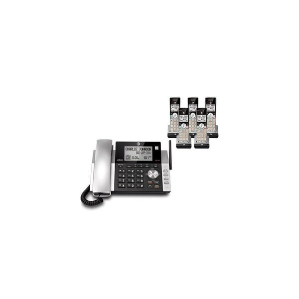 AT&T CL84215 plus (3) CL80115 Corded / Cordless Phone