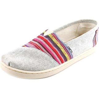Toms Classic Youth Round Toe Canvas Multi Color Loafer