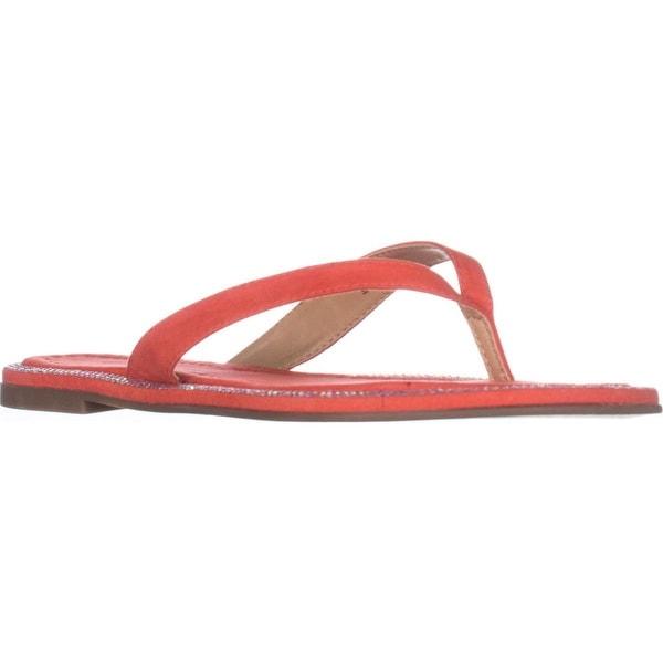 TS35 Beda Flat Flip Flop Sandals, Coral