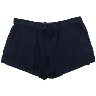 Joie Womens Sheer Flat Front Shorts - L