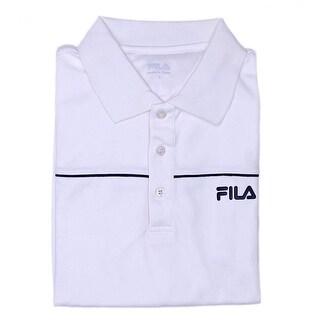 Fila Chest Pipe Short Sleeve Collared Neck Polo Men Regular Polo Shirt