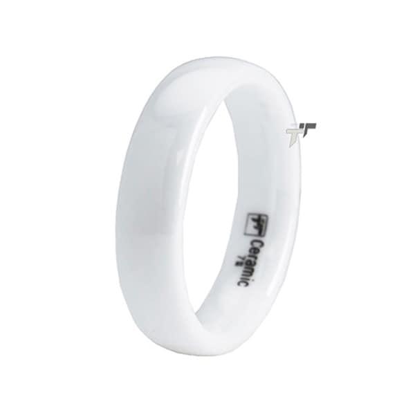 White Ceramic Classic Ring