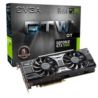 Evga Geforce Gtx 1060 6Gb Ftw+ Dt Gaming Acx 3.0 6Gb Gddr5 Led 06G-P4-6366-Kr