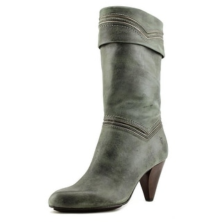 Frye Simone Cuff Women Pointed Toe Leather Green Ankle Boot