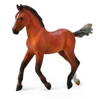 Breyer 1:18 CollectA Model Horse: Bay Hanoverian Foal - multi