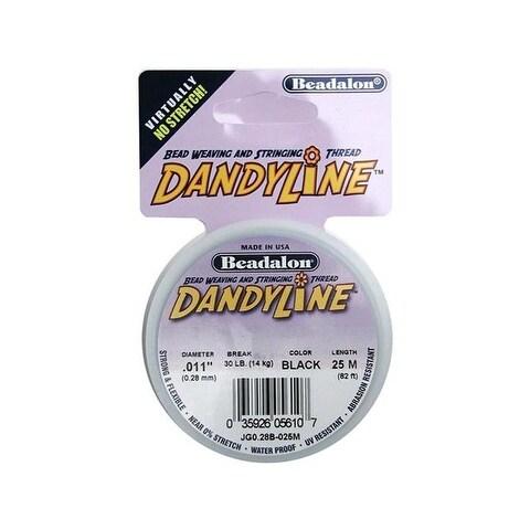 Beadalon Dandyline 0.28mm Black 25M