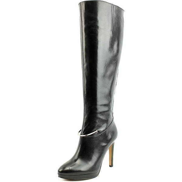 Nine West Pearson Wide Calf Women  Round Toe Leather  Knee High Boot
