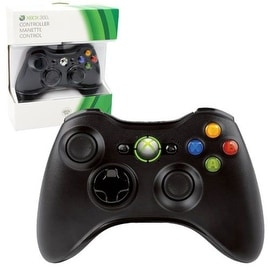 Microsoft Black Wired Controller for Microsoft Xbox 360