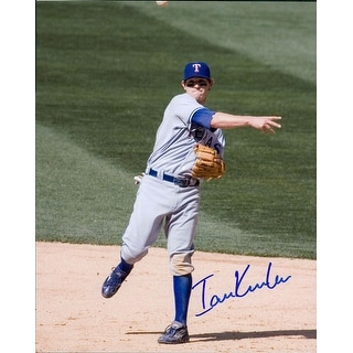 Signed Kinsler Ian Texas Rangers 8x10 Photo autographed
