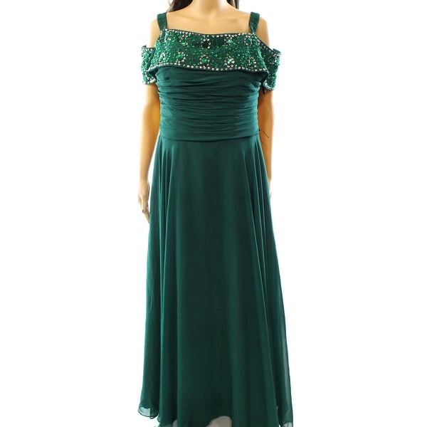 JJ\'s House NEW Green Women\'s Size Large L Embellished Ball Gown ...
