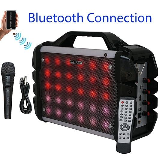 Boytone BT-52M Portable Audio karaoke Bluetooth PA Speaker System with Microphone, F