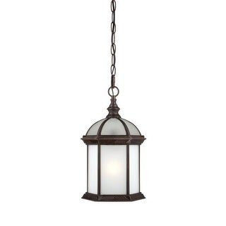 Nuvo Lighting 60/4998 Boxwood ES Single-Light Hanging Lantern with Frosted Glass Panels