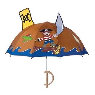 Boys Brown Child Size Lightweight Pirate Umbrella