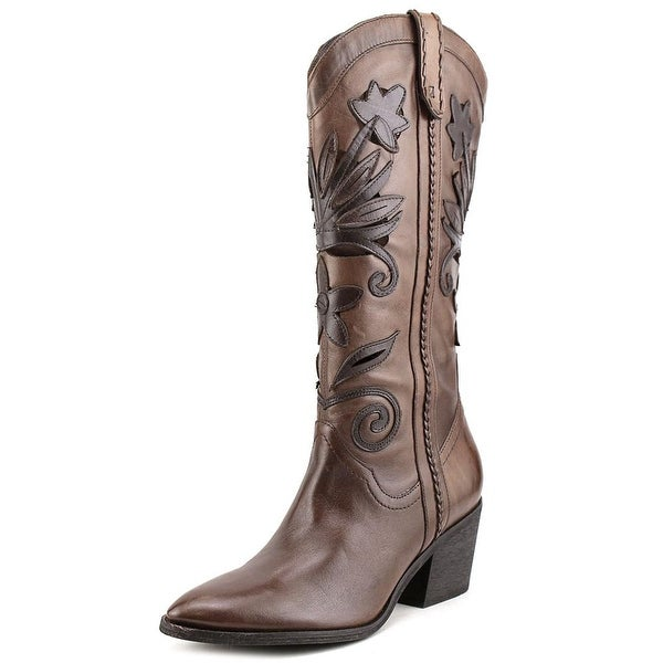 Carlos by Carlos Santana Ace Pointed Toe Leather Mid Calf Boot