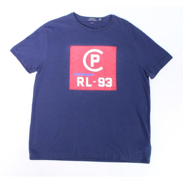 477e1dd5 Shop Polo Ralph Lauren Blue Mens Size Medium M Logo Graphic Tee Shirt - Free  Shipping On Orders Over $45 - Overstock - 28049484