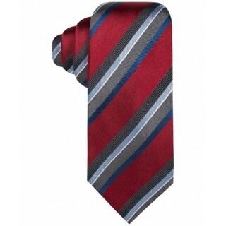 Countess Mara NEW Red Harrington Stripe Classic Neck Tie Silk Accessory