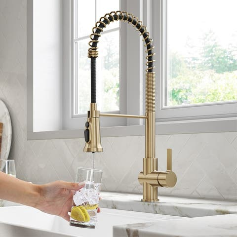 Kraus Britt Commercial 3-Function 1-Handle Pulldown Kitchen Faucet