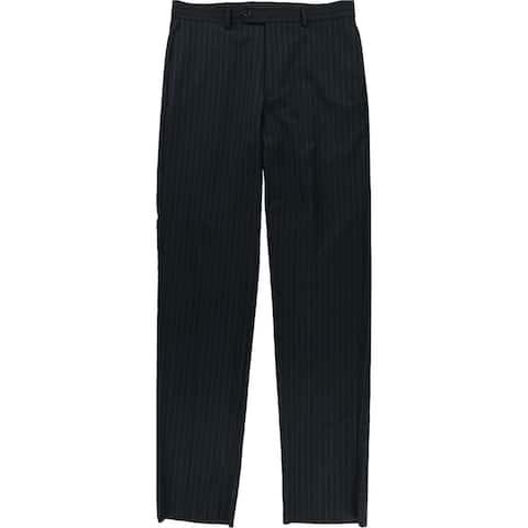 Tags Weekly Mens Stripe Dress Pants Slacks, Blue, 34W x UnfinishedL - 34W x UnfinishedL