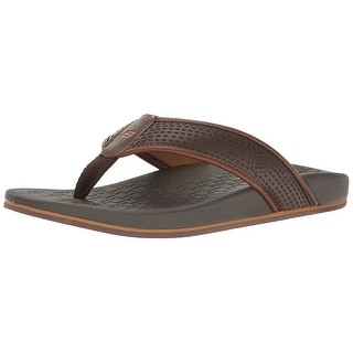 Skechers USA Men's Pelem Emiro Flat Sandal, Chocolate