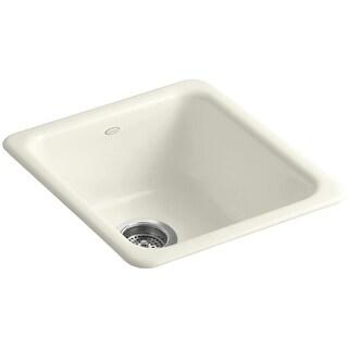 """Kohler K-6584  Iron Tones 17"""" Undermount Single Basin Cast Iron Kitchen Sink"""