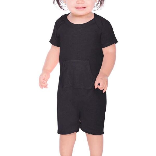 c062f3e29 Shop Kavio!Infants Sheer Jersey Lap Shoulder Short Sleeve Romper W ...