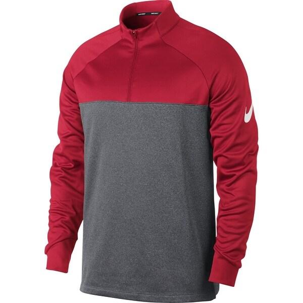 a70e82f3fd6a Shop Nike Heather Gray Red Mens Size Medium M Colorblock 1 2 Zip ...