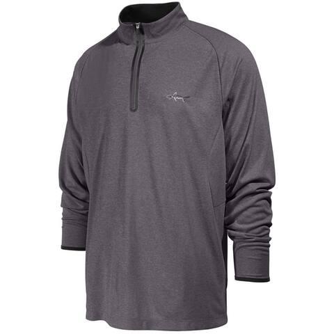 Greg Norman Mens 1/4 Zip Performance Sweatshirt, Grey, Medium