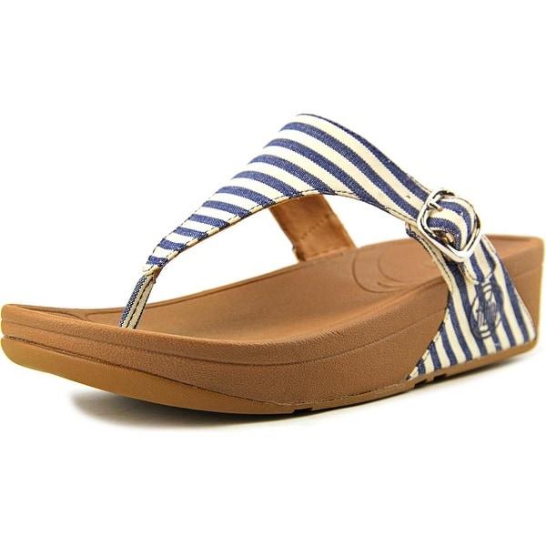 FitFlop The Skinny Women Open Toe Canvas Blue Flip Flop Sandal