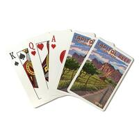 Capitol Reef Park, UT - Barn View - LP Artwork (Poker Playing Cards Deck)