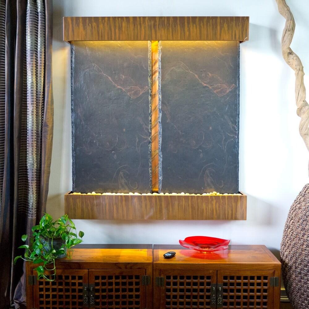 Nojoqui Falls Lightweight Double NSI Slate Fountain Shroud Finish: Copper Patina - Thumbnail 0