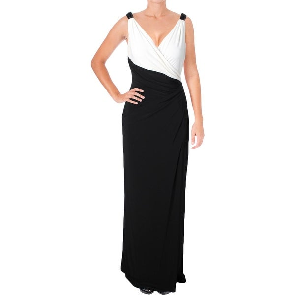 5232aaede93 Shop Lauren Ralph Lauren Womens Evening Dress Two Tone Surplice ...
