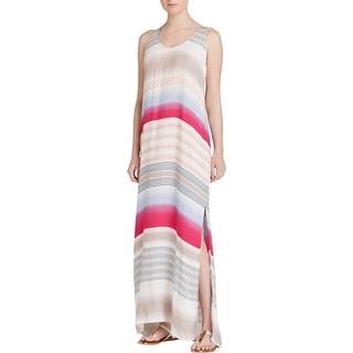 Splendid Womens Maxi Dress Striped Sleeveless