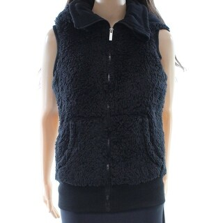 Kensie NEW Black Women's Size Small S Faux Fur Vest Sleeveless Jacket