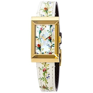 Link to Gucci Women's YA147407 'G-Frame' Multicolored Leather Watch - Multi Similar Items in Women's Watches