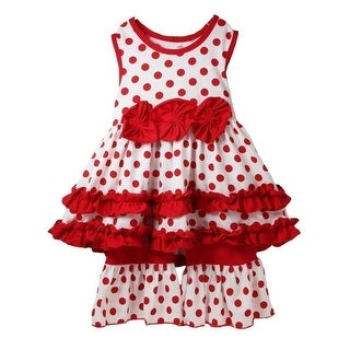 Little Girls White Red Polka Dots Bows Boutique Pant Outfit Set 12M-6