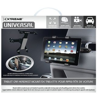 Xtreme XT-59401 Universal Tablet Headrest Mount (Black)