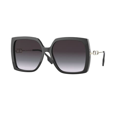 Burberry BE4332 30018G 57 Black Woman Square Sunglasses