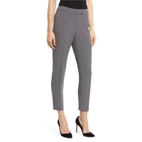 Anne Klein Womens Solid Dress Pants, Grey, 12