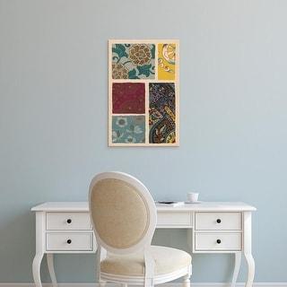 Easy Art Prints Ema Seizan's 'Japanese Textile Design I' Premium Canvas Art