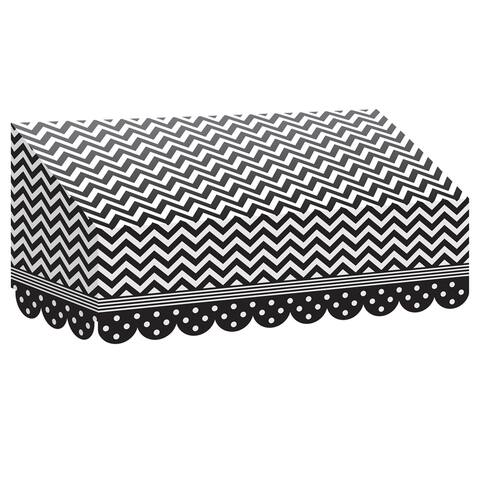 Black & White Chevrons and Dots Awning, Pack of 3 - One Size