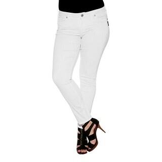 Silver Jeans Denim Womens Suki Super Skinny Plus White W93006SSWWHT