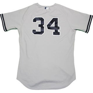 Brian McCann Jersey  NY Yankees 2015 Game Used 34 Grey Jersey HZ6724160000005612