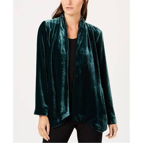 Eileen Fisher Womens Velvet Jacket